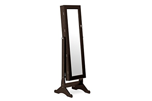 Bella Wooden Dressing Mirror With Jewelry Cabinet Brown Check Back Soon