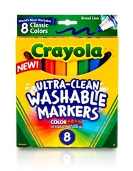 Crayola Broad Point Washable Markers - 8 Markers (58-7808)