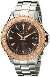 Invicta Men's Pro Diver Analog Display Japanese Quartz Watch - Silver/Brown
