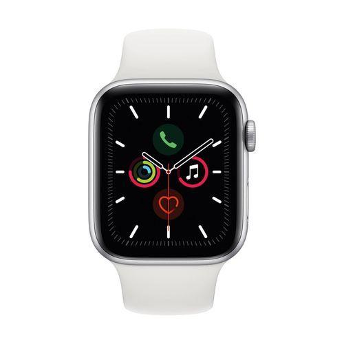 Apple Watch Series 5 GPS + Cellular Aluminum Smartwatch - Black/White