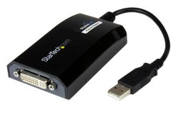 StarTech USB to DVI Adapter - External USB Video Graphics Card for PC and MAC