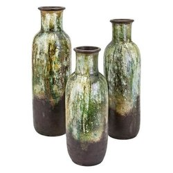 IMAX Worldwide Home Clay Set Of 3 Vase Open Box