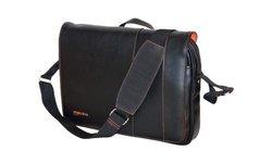"Mobile Edge Slimline Leather Case for 14.1"" Ultrabook/iPad - Black/Orange"