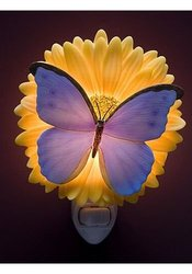 Blue Butterfly & Gerber Daisy Night Light