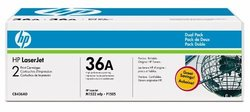 HP 36A Black LaserJet Toner Cartridges Dual Pack (CB436D)