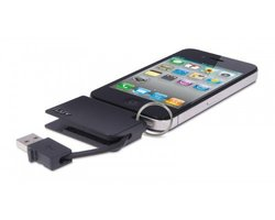 iLuv Mini CuteSync Keychain Sync/Charge Cable - Black (iCB9BLK)