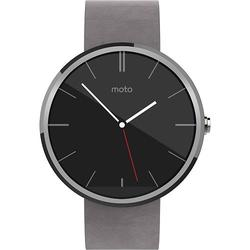 Motorola Moto 360 Smartwatch - Stone Grey Leather (00583NARTL)