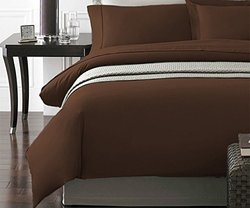 NY Collection 2 Piece Ultra Soft Duvet Cover Set - Chocolate - Twin