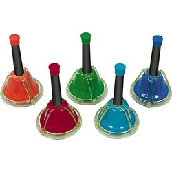 Rhythm Band 5-Note Chromatic Add-On Hand/Desk Bell Set