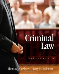 Cengage Learning Criminal Law 12th Edition Hardcover - 2014