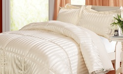 Kathy Ireland Down Alternative Reversible Comforter Set: Queen/Ivory