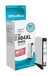 OfficeMax Remanufactured Black HY Ink Cartridge Replacement for HP 564XL