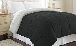 Sanctuary by PCT Down Alternative Reversible Comforter: Anthracite-Silver/King