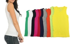 Intimate Apparel 12-Pack Women's Tank Tops - Size:XL