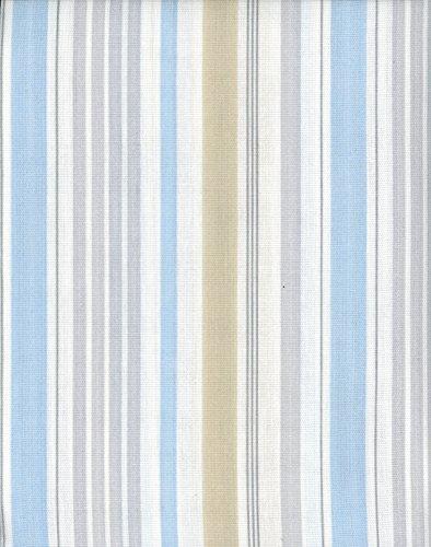 Laura Ashley Fabric Shower Curtain Somerset Stripe Light Blue ...