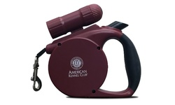 American Kennel Club 3 In1 Retractable Leash for Dogs w/ LED light - Gray