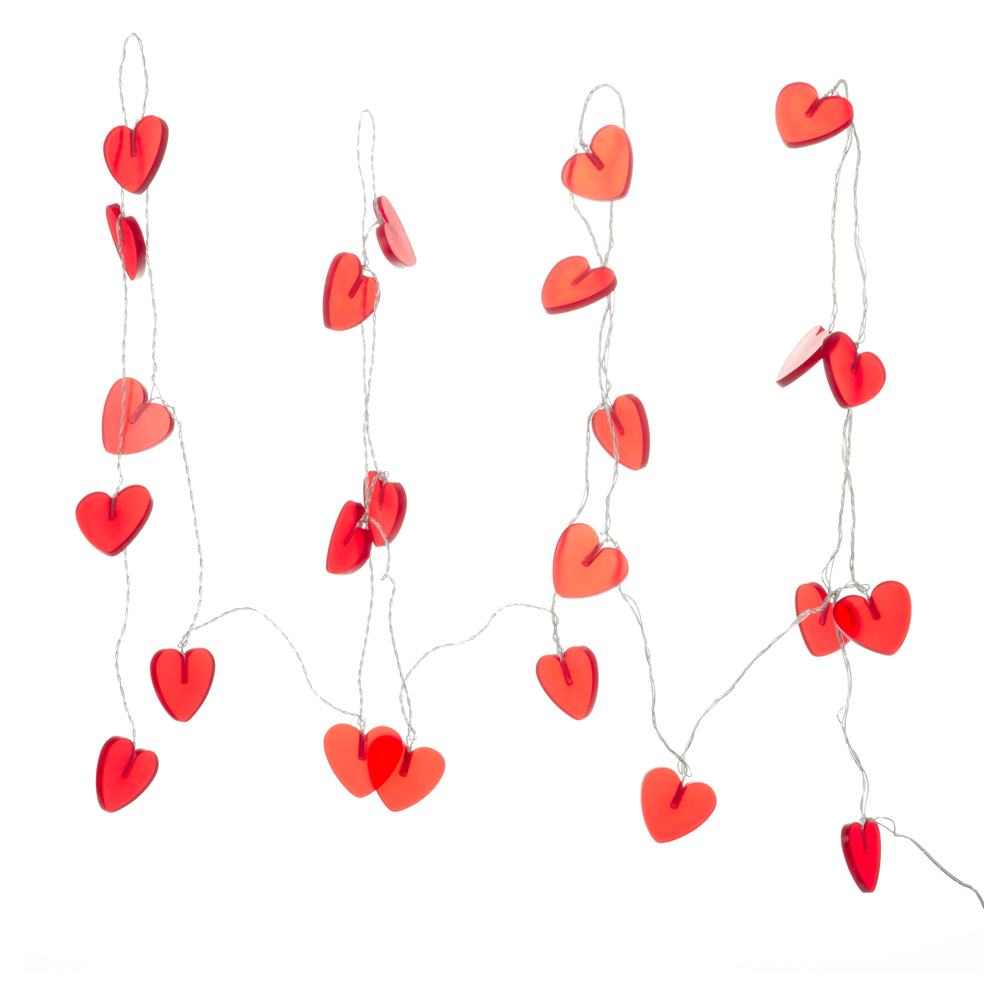 low priced d58de 03b64 IKEA Ramsta 24 Large Red Heart Shaped String Lights - Check ...