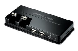Nu HU2SA0 USB 2.0 10 Port Hub with Power Adapter