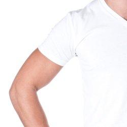 Next Level Apparel Premium Cotton Blend V-Neck Shirt - White - Size: M