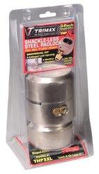 Trimax THP3XL Hockey Puck Keyed Alike Internal Shackle Trailer Door Lock, (Pack of 3)