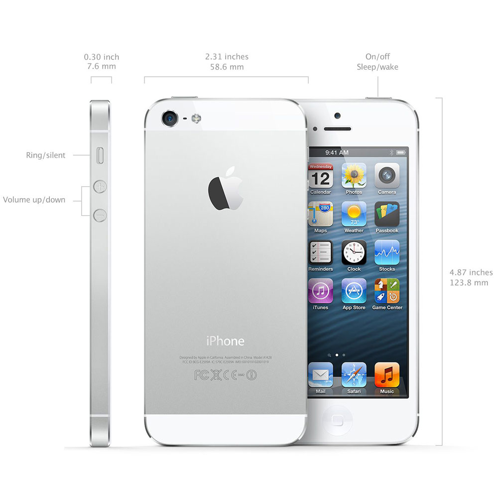 Unlocked iPhone 5 64GB GSM - White - Check Back Soon