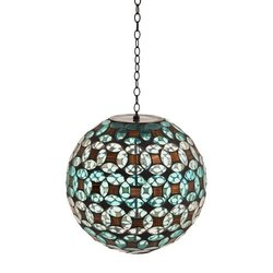 Solar Hanging Gazing Ball: Geometric Sphere
