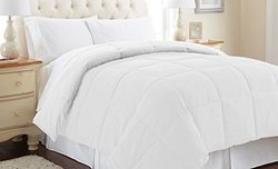 Down Alternative Reversible Comforter: White-White/Q