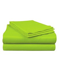 Super Brights Collection Microfiber Sheet Set: Lime/full