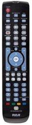 RCA 6 Device Universal Remote Blue Backlit Keypad Gloss Black RCRN06GR
