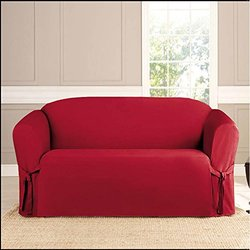 Pet Protector Microsuede Slipcover with Ties- Sofa Ruby