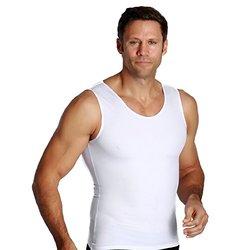 Insta Slim Compression Muscle Tank - White - Size: XL