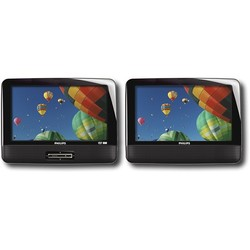 "Philips 9"" Personal And Portable Dual-Screen DVD Player (Pd9012p17)"