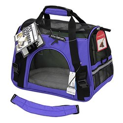 OxGord Soft Sided Airline Approved Travel Pet Carrier - Purple - Size: S