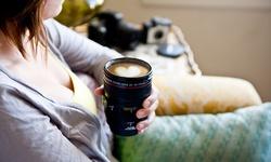 Photomama Realistic Camera Lens Mug - Black