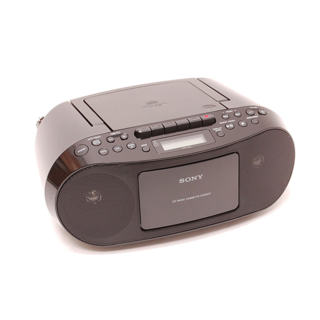 sony cd radio cassette recorder boombox cfd s50blk. Black Bedroom Furniture Sets. Home Design Ideas