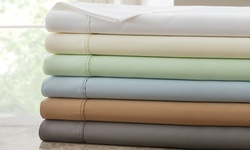 1000TC Egyptian Cotton Rich Sheets: Light Blue/Q