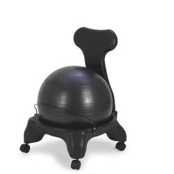 Sivan Health and Fitness Balance Ball Fit Chair with Pump, Black, Large