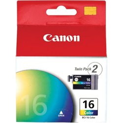 Canon BCI-16 Tricolor Ink Tanks (9818A003) Pack Of 2 cyan/magenta/yellow
