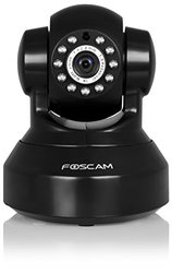 Foscam Indoor 720P HD Pan Tilt Wireless IP Camera - Black (FI9816PB)