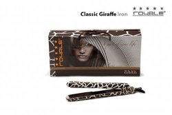 """Royale 1"""" Giraffe Nano Tourmaline Ceramic Ionic Flat Iron / Hair Straightener Styler"""