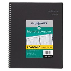 """Monthly Planner Academic Year 12 Mo. July 2015-June 2016 8.5x11"""""""