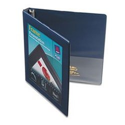 "Framed View Binder with Gap Free Slant Rings, 1/2"" Capacity, Navy Blue"