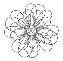 Benzara 64664 Metal Wall Decor - Flower - 29-Inch