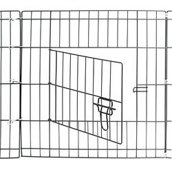 Oxgord Dog Animal Playpen Metal Wire Folding Exercise Yard Fence - Black