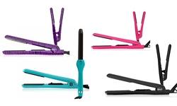 """Hair Rage 1.25"""" Unisex Mini & Flat Hair Iron - Set of 2 - Pink"""