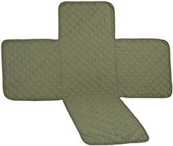 P&A Marketing Microfiber Reversible Love Seat Cover, Olive/Sage
