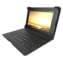 "ZAGG Auto-Fit Keyboard Folio Case for 7"" Android Tablets - Black"