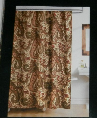 Ralph Lauren Bridgette Paisley Fabric Shower Curtain