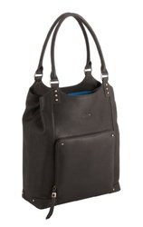 """Solo VTA802 Ladies Leather Bucket Tote for Laptops up to 15.4"""" Espresso"""
