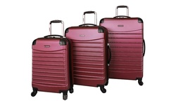 Earth Gear 3-Piece Ciao Voyager Hard Side Spinner Luggage Set - Burgundy